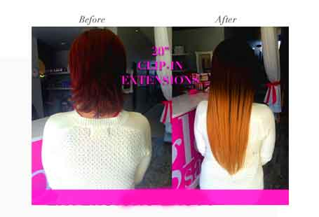 clip-in hair extensions is reusable